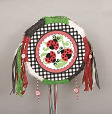 Lively Ladybugs Drum Pull Pop-Out Pinata