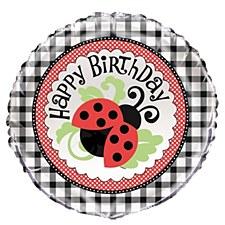 "Lively Ladybugs 18"" Foil Balloon Bulk"