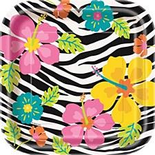 "Wild Luau 7"" Dessert Plates 10ct"