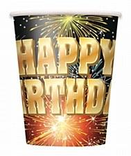 Birthday Burst 9oz. Cups 8ct