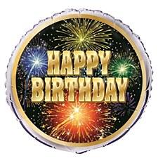 "Birthday Burst 18"" Foil Balloon Bulk"