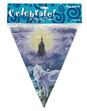 Fairy Tale Unicorns Pennat Banner