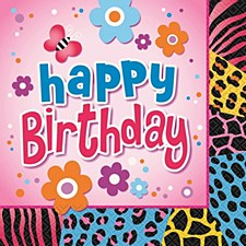 Wild Birthday Luncheon Napkins 16ct