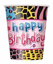 Wild Birthday 9 oz. Cups, 8ct