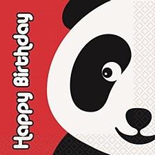 Birthday Panda Beverage Napkins 16ct