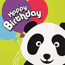 Birthday Panda Luncheon Napkins 16ct