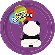"Birthday Panda 7"" Dessert Plates 8ct"