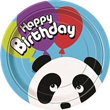 "Birthday Panda 9"" Lunch Plates 8ct"