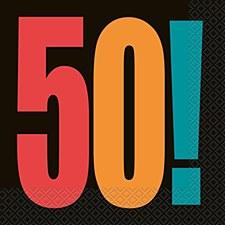 Birthday Cheer 50th Birthday Luncheon Napkins (16ct)