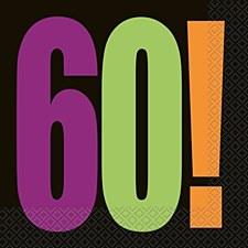 Birthday Cheer 60th Birthday Luncheon Napkins (16ct)