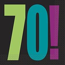 Birthday Cheer 70th Birthday Luncheon Napkins (16ct)
