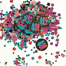 Birthday Cheer 40th Birthday Paper & Foil Confetti