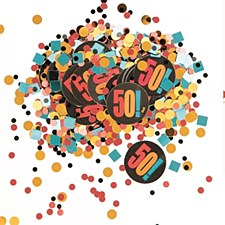 Birthday Cheer 50th Birthday Paper & Foil Confetti
