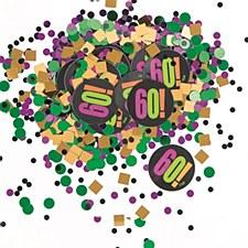 Birthday Cheer 60th Birthday Paper & Foil Confetti
