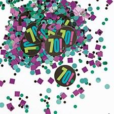 Birthday Cheer 70th Birthday Paper & Foil Confetti