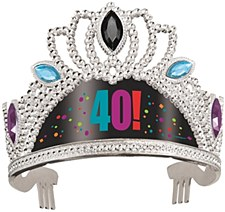 Birthday Cheer 40th Birthday Tiara