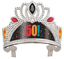 Birthday Cheer 50th Birthday Tiara