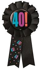 Birthday Cheer 40th Birthday Award Ribbon
