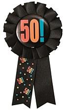 Birthday Cheer 50th Birthday Award Ribbon