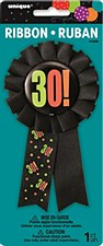 Birthday Cheer 30th Birthday Award Ribbon