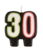Birthday Cheer 30th Birthday Numeral Candle