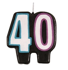 Birthday Cheer 40th Birthday Numeral Candle