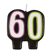 Birthday Cheer 60th Birthday Numeral Candle