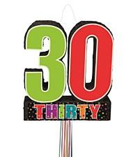 Birthday Cheer 30th Birthday Pull Pinata