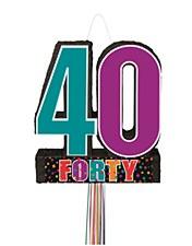 Birthday Cheer 40th Birthday Pull Pinata