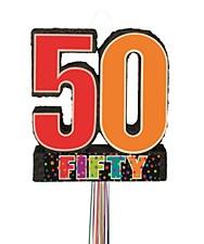 Birthday Cheer 50th Birthday Pull Pinata