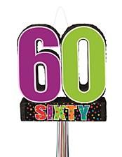 Birthday Cheer 60th Birthday Pull Pinata