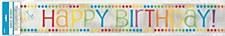Rainbow Birthday Foil Banner 12Ft.