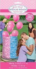 Girl Gift Sack Reveal with Balloons