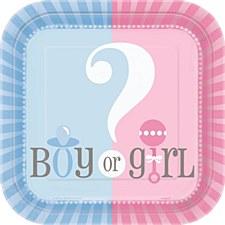 "Gender Reveal 7"" Dessert Plates 10ct"