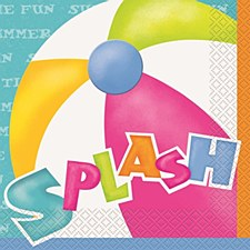 Pool Party Luncheon Napkins 16ct