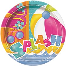 """Pool Party 9"""" Lunch Plates 8ct"""
