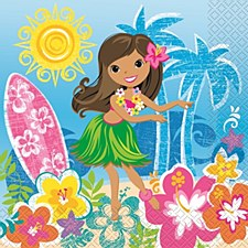 Hula Beach Party Luncheon Napkins 16ct