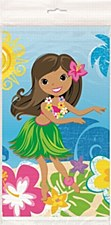 """Hula Beach Party Plastic Table Cover 54"""" x 84"""""""