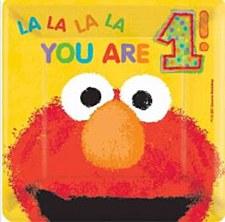 "Elmo's 1st Birthday 7""Square Plates"
