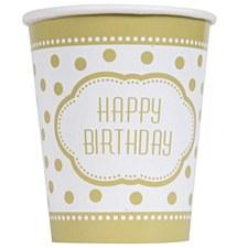 Golden Birthday Cups