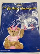 1st Birthday Pink Teddy Bear Centerpiece