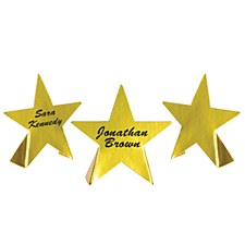 Foil Star Place Cards