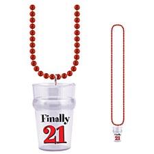 "21ST Birthday Glass ""Finally 21"""