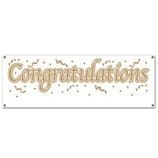 Congratulations Sign Banner