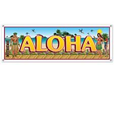 Tropical Beach Sign Banner