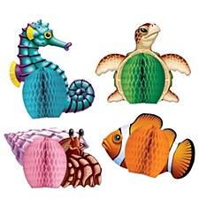 Sea Creatures Mini Centerpieces, 4ct.