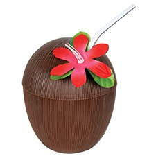 Plastic Coconut Cup, 16oz