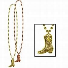 Beads w/Cowboy Boot Medallion