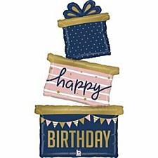 """51""""Navy Birthday Gift Trio"""