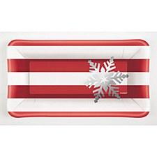 Elegant Red Christmas Long Plate
